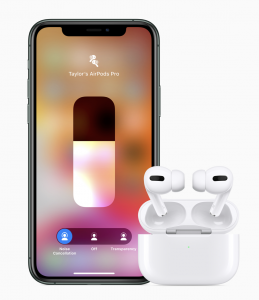 A quick tap on the volume slider in Control Center makes it easy to switch between Active Noise Cancellation and Transparency modes